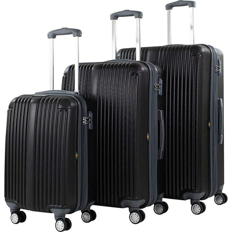 American Green Travel-American Green Travel Rockdale 3 Piece Expandable Hardside Spinner Luggage Set-bags-packs.com