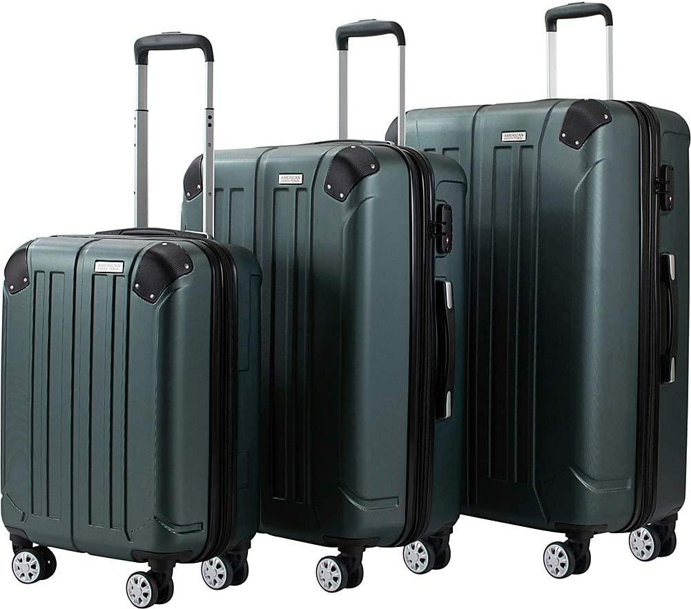American Green Travel-American Green Travel Yukon TSA Expandable Spinner 3-Piece Luggage Set-bags-packs.com