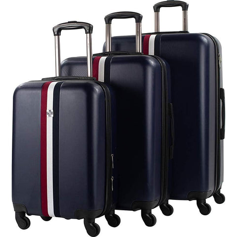 American Sport Plus-American Sport Plus Stripes 3 Piece Expandable Spinner Luggage Set-bags-packs.com