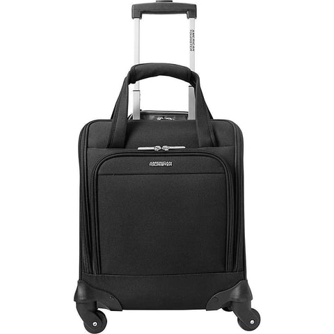 American Tourister-American Tourister Lynnwood 16 Inch Underseat Spinner Carry-On Luggage With Wheels - (Black)-bags-packs.com
