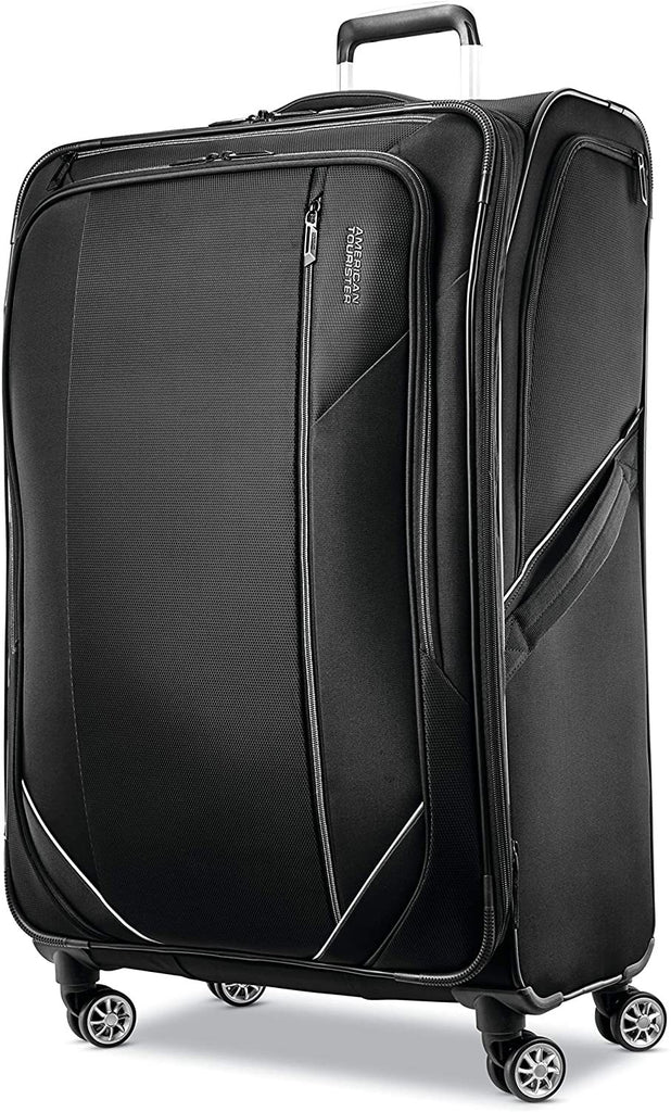 American Tourister-American Tourister Zoom Turbo Softside Expandable Spinner Wheel Luggage-bags-packs.com