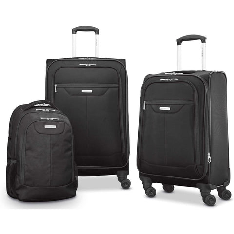 BB Bags&Backpacks-Samsonite Tenacity 3 Piece Set - Luggage Black Color - Free Shipping-bags-packs.com