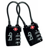 B&B-B&B 2 Pack TSA Approved Cable Luggage Lock-bags-packs.com