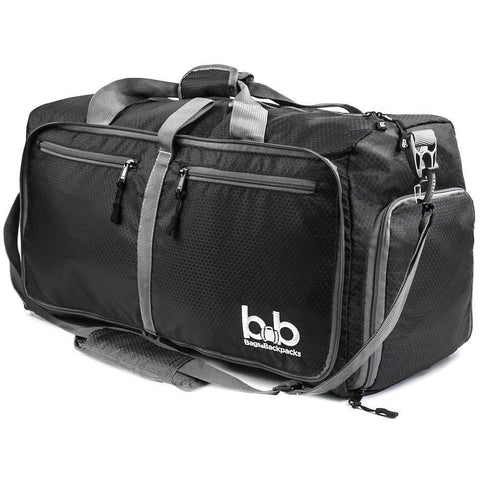 B&B-B&B 60L Medium Gym Duffle Bag with Pockets - Foldable Lightweight Travel Bag-bags-packs.com