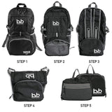 B&B-B&B Lightweight Foldable Travel Hiking Backpack-bags-packs.com