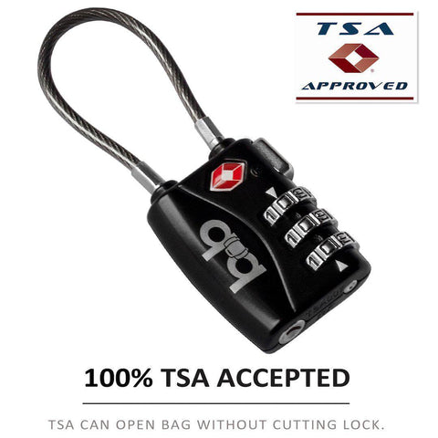 B&B-B&B Small Combination Padlock - Travel TSA Lock-bags-packs.com