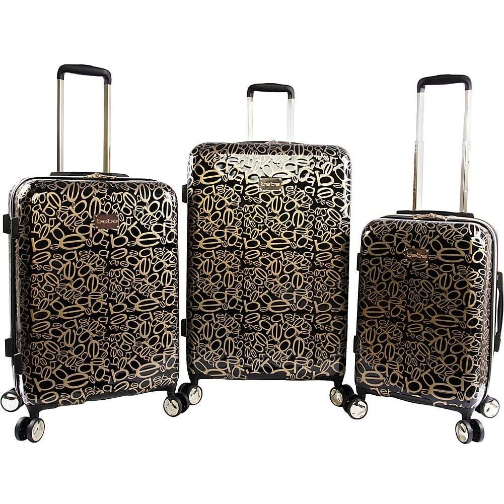 bebe-BeBe Annabelle 3 Piece Set Suitcase with Spinner Wheels-bags-packs.com