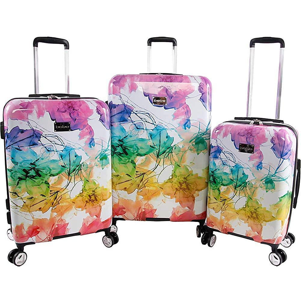 bebe-BEBE Megan 3pc Suitcase Set with Spinner Wheels-bags-packs.com