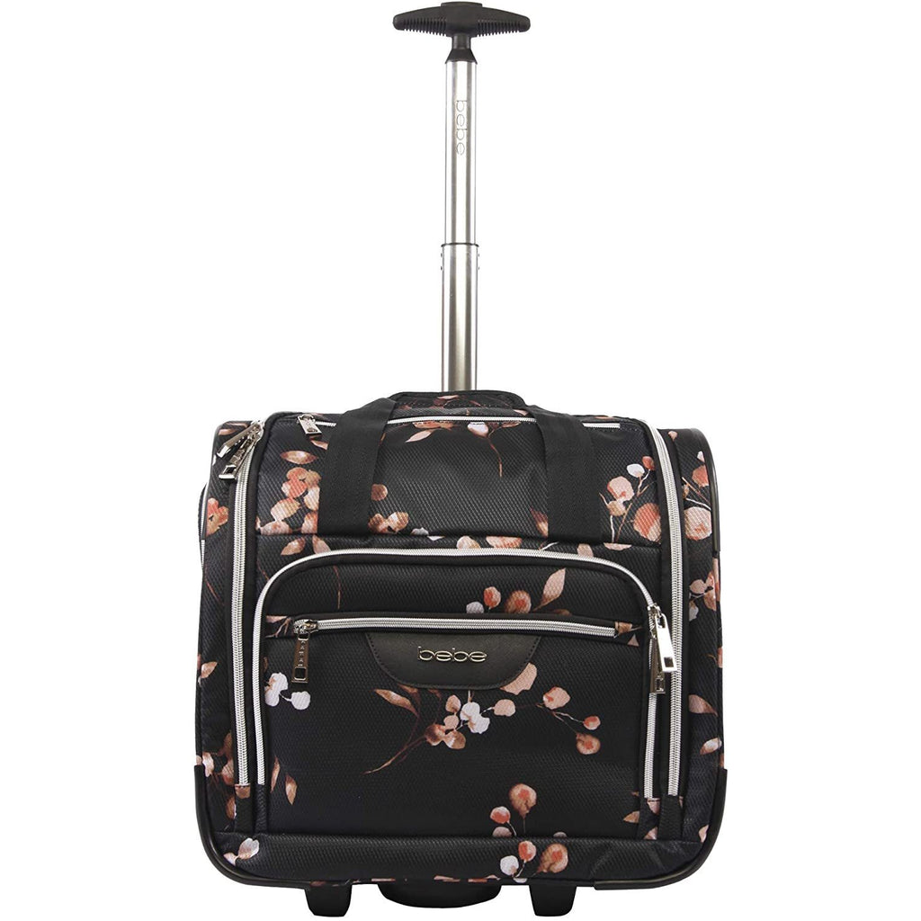bebe-BEBE Valentina-Wheeled Under The Seat Carry-on Bag-bags-packs.com