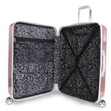 "BEBE-BEBE Women's Stella 21"" Hardside Carry-on Spinner Luggage, Rose Gold-bags-packs.com"