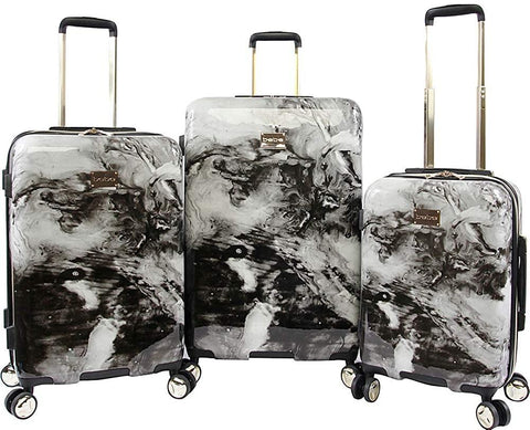 bebe-BEBE Women's Teresa 3pc Spinner Suitcase Set-bags-packs.com