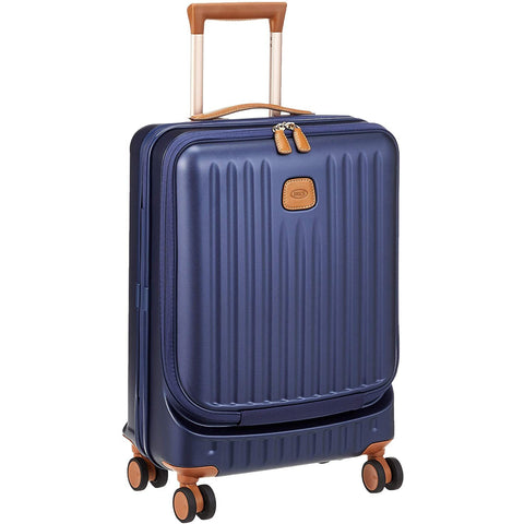 Bric's-Bric's Capri 21 Inch Ultralight Carry On Business Spinner Trunk with Pocket-bags-packs.com