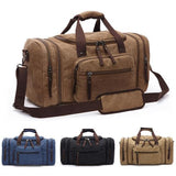 Canvas-Men's Oversized Canvas Travel Luggage Bag-bags-packs.com