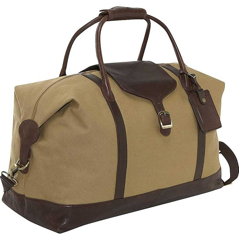 "Clava-Clava Canvas 21"" Overnighter w/Leather Trim-bags-packs.com"