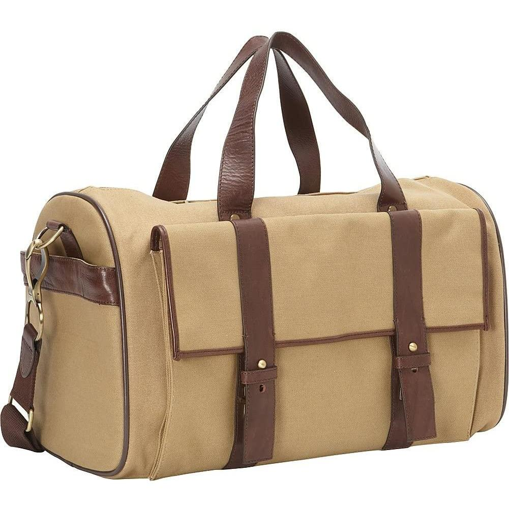 Clava-Clava Canvas And Leather Pocket Duffel-bags-packs.com