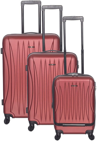 Club Rochelier-Club Rochelier 3pc Traveller Luggage Set (Red)-bags-packs.com