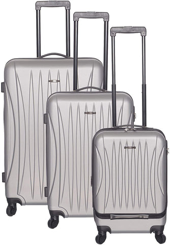 Club Rochelier-Club Rochelier 3pc Traveller Luggage Set (Silver)-bags-packs.com