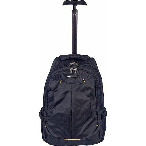 Club Rochelier-Club Rochelier Large Rolling Trolley Backpack (Black)-bags-packs.com