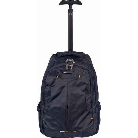 Club Rochelier-Club Rochelier Small Rolling Trolley Backpack (Black)-bags-packs.com