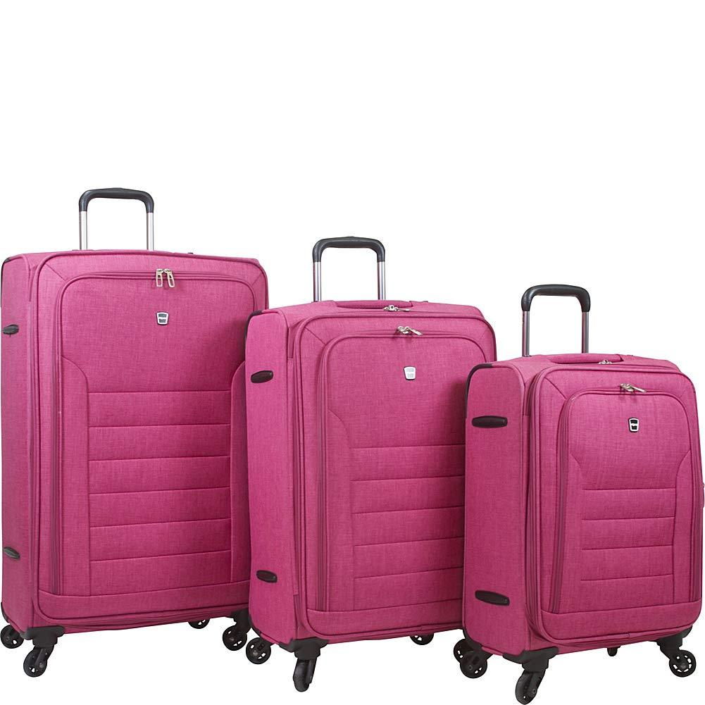 Dejuno-Dejuno Noir Lightweight 3-Piece Spinner Luggage Set with Laptop Pocket-bags-packs.com