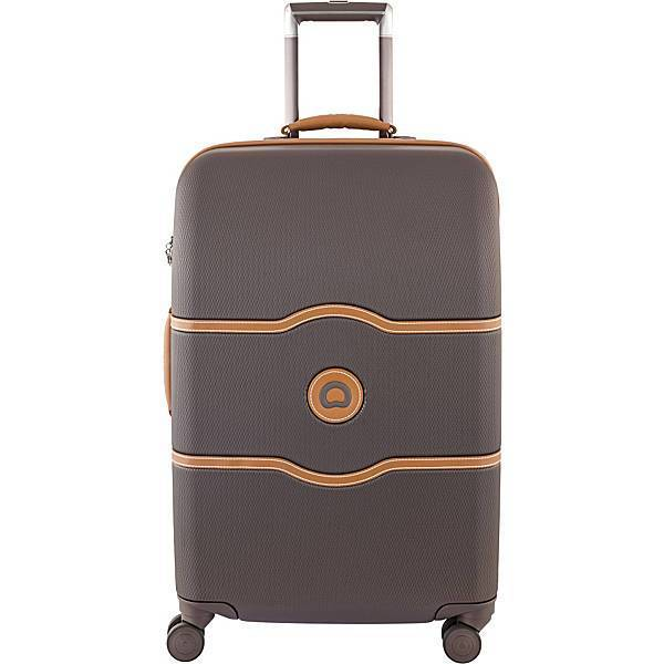 "DELSEY-DELSEY Chatelet Hard+ 24"" Medium Checked Spinner Hardside Suitcase-bags-packs.com"