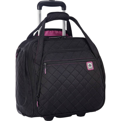 DELSEY-DELSEY Quilted Rolling UnderSeat Tote-bags-packs.com