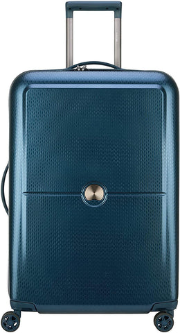 "DELSEY Paris-Delsey Luggage Turenne 25"" Checked Luggage, Lightweight Hard Case Spinner Suitcase (Blue)-bags-packs.com"