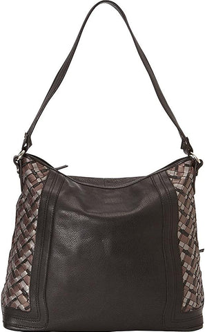 Derek Alexander Leather-Derek Alexander Large Two Top Zip Shoulder Bag-bags-packs.com