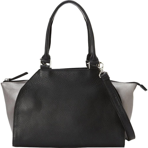 Derek Alexander Leather-Derek Alexander Med Top Handle Top Zip 2 Toned Detail-bags-packs.com