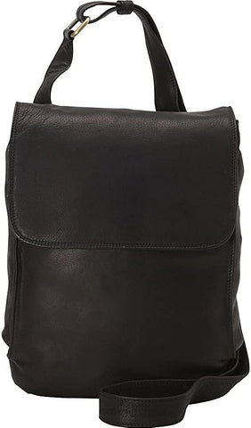 Derek Alexander Leather-Derek Alexander N/S Half Flap Shoulder Bag-bags-packs.com