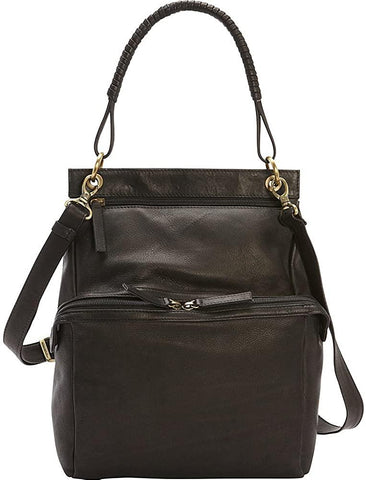 Derek Alexander Leather-Derek Alexander N/S Two Zip Compartment Shoulder Bag-bags-packs.com