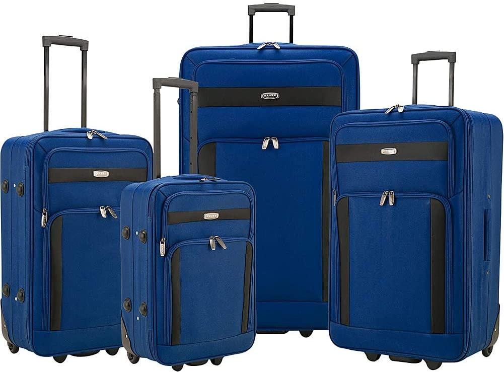 Elite Luggage-Elite Luggage Cedar 4-Piece Softside Rolling Luggage Set-bags-packs.com