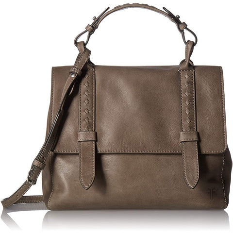 FRYE-FRYE Reed Flap Leather Satchel Bag-bags-packs.com