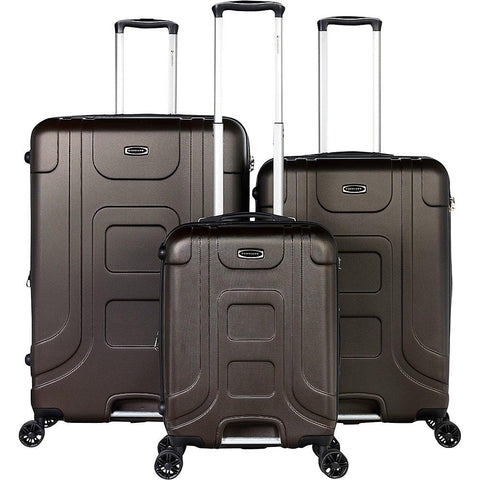 Gabbiano-Gabbiano Luca 3 Piece Expandable Hardside Spinner Luggage Set-bags-packs.com