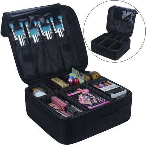 GENERIC-Cosmetic Case Organizer / Portable Artist Storage Bag with Adjustable Dividers-bags-packs.com