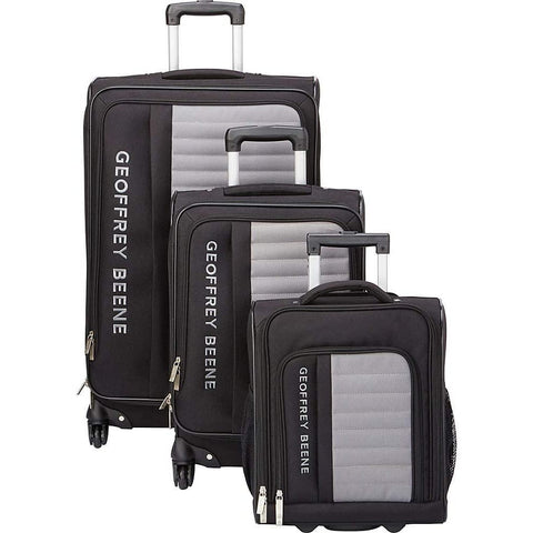Geoffrey Beene Luggage-Geoffrey Beene Luggage Adventure 3 Piece Spinner Luggage Set-bags-packs.com