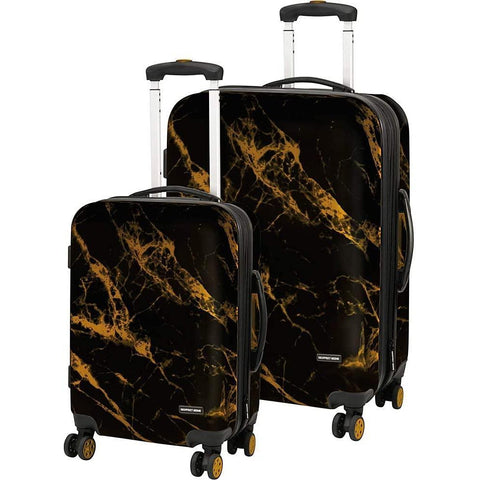 Geoffrey Beene Luggage-Geoffrey Beene Luggage Deep Marble 2 Piece Hardside Spinner Luggage Set-bags-packs.com