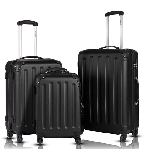 GOPLUS-GOPLUS 3Pcs Spinner Hardside Luggage Set-bags-packs.com
