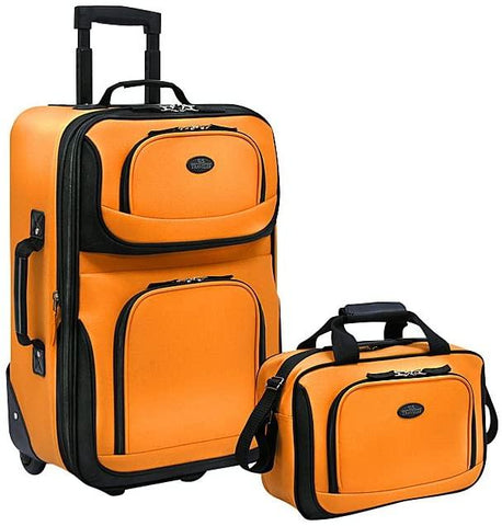 Happy Home Products-Traveler's Choice Rio 2-Piece Lightweight Carry-On Luggage Set NEW-bags-packs.com