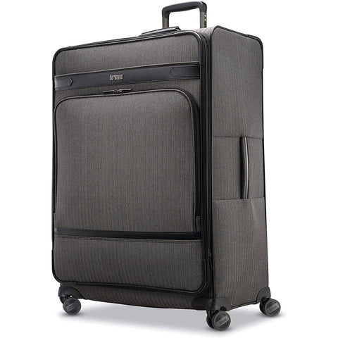 Hartmann-Hartmann Herringbone Deluxe Expandable Softside Luggage with Double Spinner Wheels-bags-packs.com
