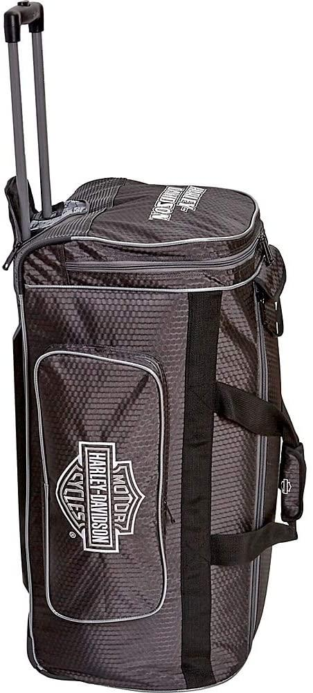 "Hi-Capacity-Harley Davidson by Athalon Tough Terrain 28"" Extra Large Checked Wheeled Duffel-bags-packs.com"