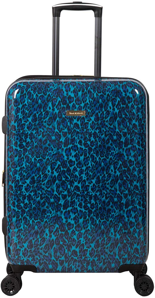 "Isaac Mizrahi-Isaac Mizrahi Unisex-Adult Gabby 26"" 8-Wheel Hardside Spinner, Blue Leopard, Luggage-bags-packs.com"