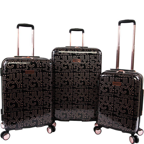 Juicy Couture-Juicy Couture Florence 3-Piece Hardside Spinner Luggage Set-bags-packs.com