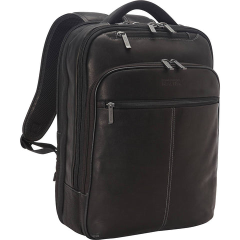 KENNETH COLE REACTION-KENNETH COLE REACTION Back-Stage Access Colombian Leather Laptop Backpack-bags-packs.com