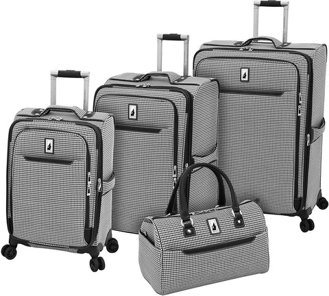"LONDON FOG-London Fog Cambridge II 4 Piece Set (Satchel, 20"", 25"", 29"")-bags-packs.com"