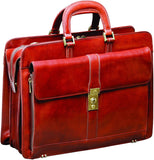 Mancini Leather Goods-Mancini Leather Goods Luxurious Italian Leather Laptop Briefcase-bags-packs.com