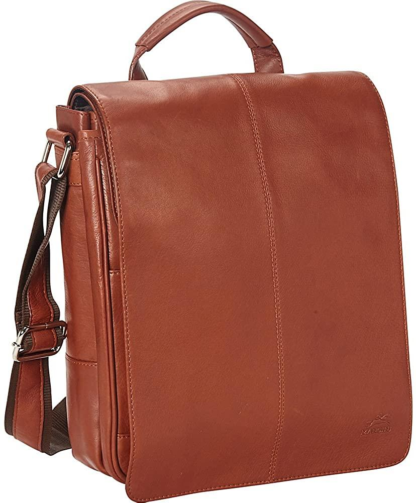 Mancini-Mancini Leather Goods Colombian Messenger Style Tablet Bag-bags-packs.com