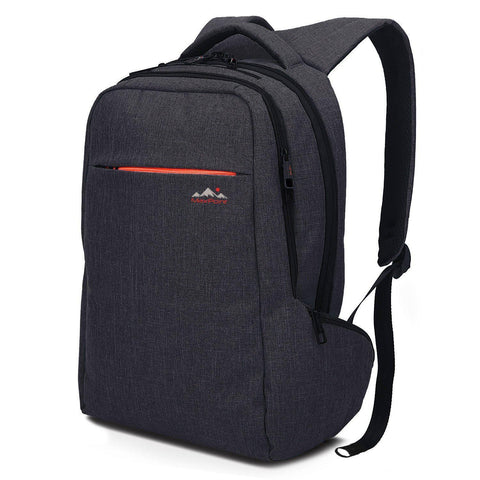 MAXPOINT-MAXPOINT 15.6 Water-Resistant Slim Laptop Backpack, School College Kids Backpack-bags-packs.com