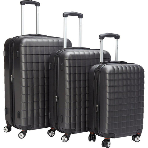 McBrine Luggage-McBrine Luggage Eco friendly 3Pc Hardside Luggage Set-bags-packs.com