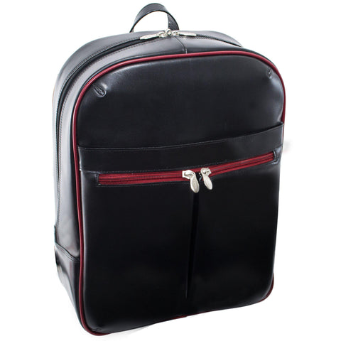 "MCKLEIN USA-MCKLEIN USA AVALON 15"" Leather Laptop Slim Backpack-bags-packs.com"